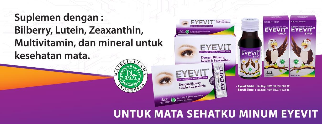 Eyevit Vitamin mata dengan kandungan Bilberry, Lutein, Zeaxanthin, Multivitamin, dan mineral untuk kesehatan mata